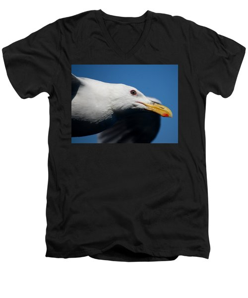 Men's V-Neck T-Shirt featuring the photograph Eye Of A Seagull by Sumoflam Photography