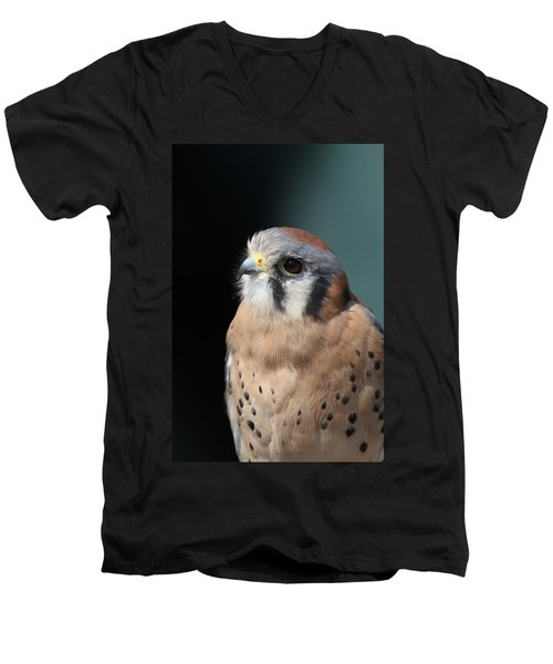 Men's V-Neck T-Shirt featuring the photograph Eye Of Focus by Laddie Halupa