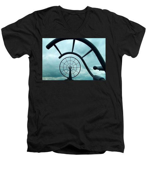 Eye Of History  Men's V-Neck T-Shirt