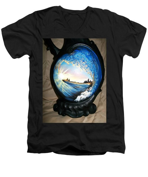 Eye Of The Wave 1 Men's V-Neck T-Shirt by Sharon Duguay