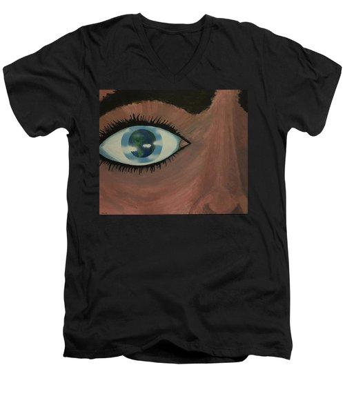 Eye Of The World Men's V-Neck T-Shirt by Thomas Blood