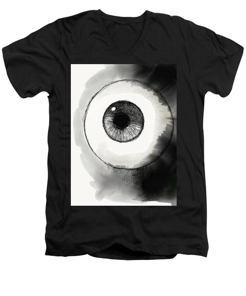 Eyeball Men's V-Neck T-Shirt by Antonio Romero
