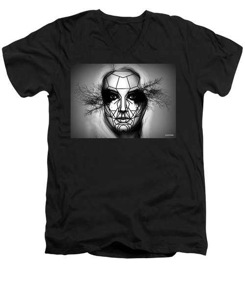 Eyes Tell The Truth Men's V-Neck T-Shirt by Paulo Zerbato