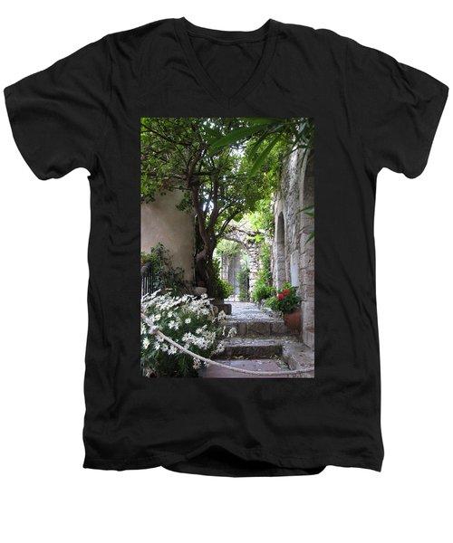 Eze Passageway Men's V-Neck T-Shirt by Carla Parris