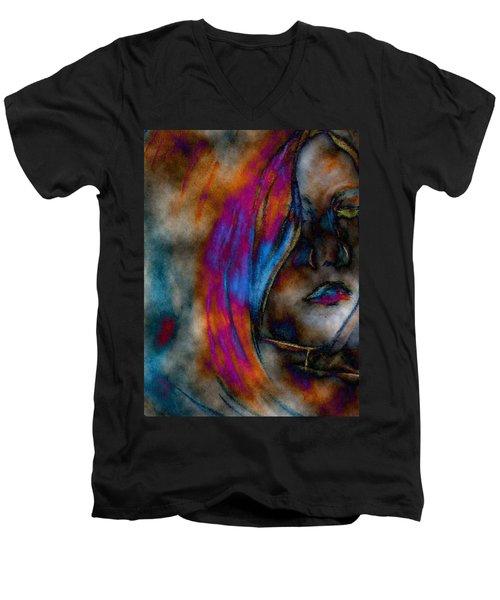 Face Of A Girl Men's V-Neck T-Shirt