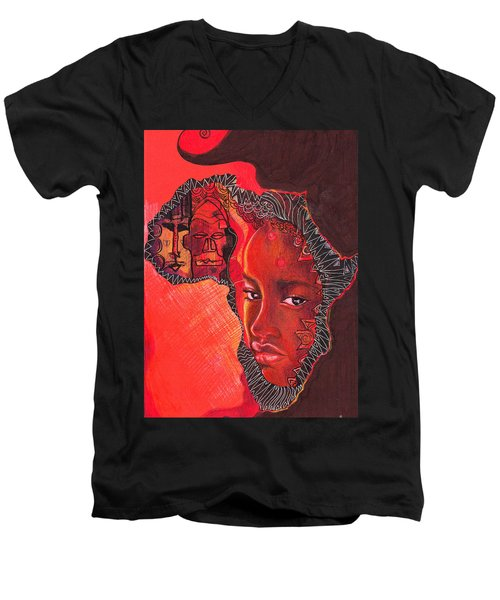 Face Of Africa Men's V-Neck T-Shirt