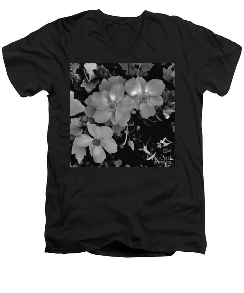 Faded Flowers Men's V-Neck T-Shirt