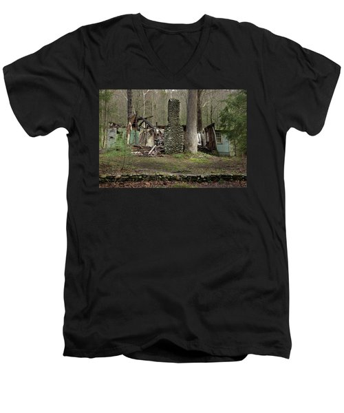 Men's V-Neck T-Shirt featuring the photograph Fading Into Tomorrow by Mike Eingle
