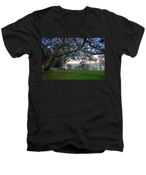 Fairhope Swing On The Bay Men's V-Neck T-Shirt