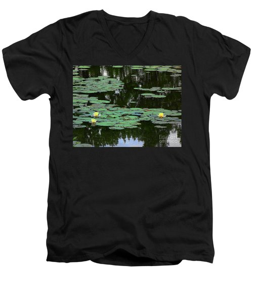 Fairmount Park Lily Pond Men's V-Neck T-Shirt