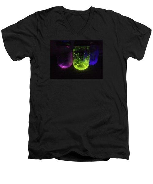 Fairy Jars Men's V-Neck T-Shirt by Shelby Burhans