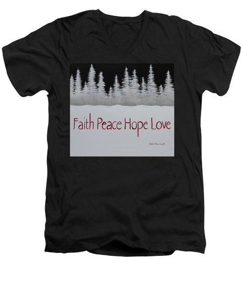 Faith, Peace, Hope, Love Men's V-Neck T-Shirt
