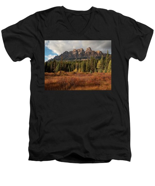 Fall At Castle Mountain Men's V-Neck T-Shirt