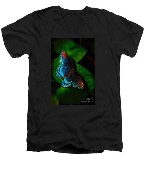 Fall Butterfly Men's V-Neck T-Shirt