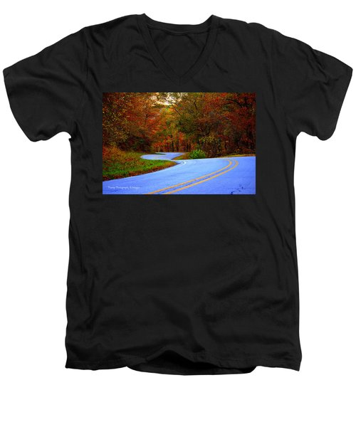 Fall Drive Men's V-Neck T-Shirt