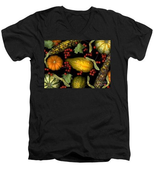 Fall Harvest Men's V-Neck T-Shirt by Christian Slanec