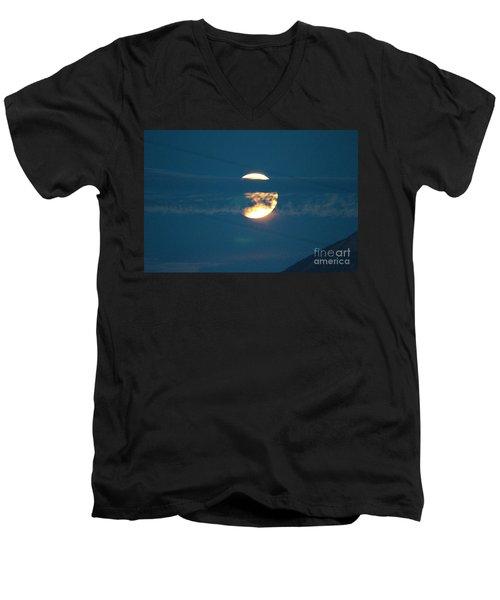 Fall Harvest Hunters Moon Eclipse  Men's V-Neck T-Shirt