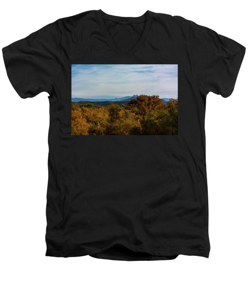 Fall In The Desert Men's V-Neck T-Shirt