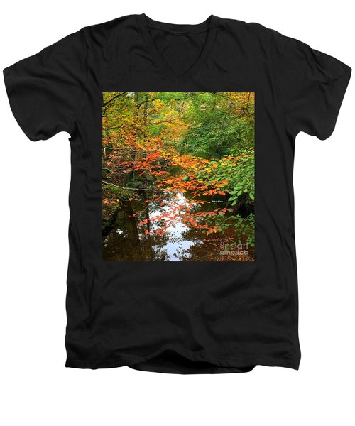 Fall Is In The Air Men's V-Neck T-Shirt