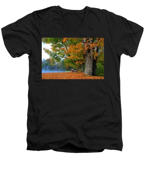 Fall Morning In Jackson Men's V-Neck T-Shirt