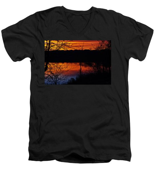 Fall Sunset Men's V-Neck T-Shirt