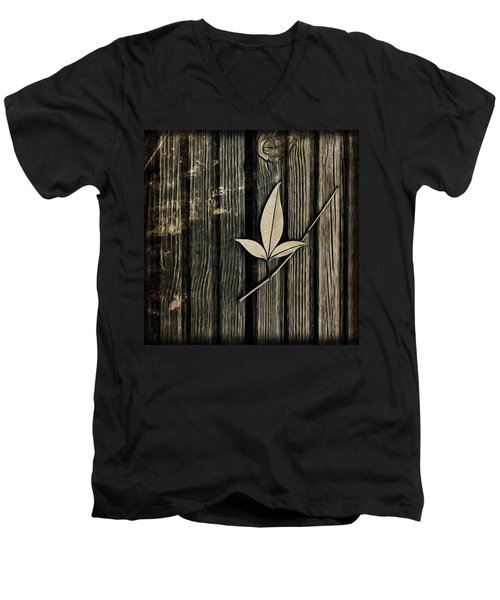 Fallen Leaf Men's V-Neck T-Shirt by John Edwards