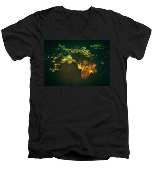 Falling Leaf  Men's V-Neck T-Shirt