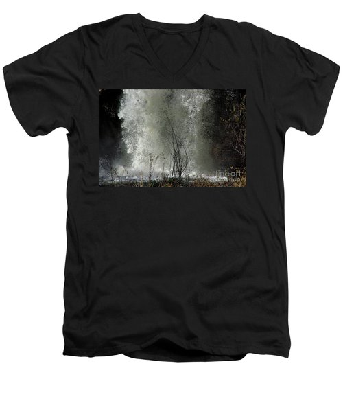 Men's V-Neck T-Shirt featuring the photograph Falling Waters by Vicki Pelham