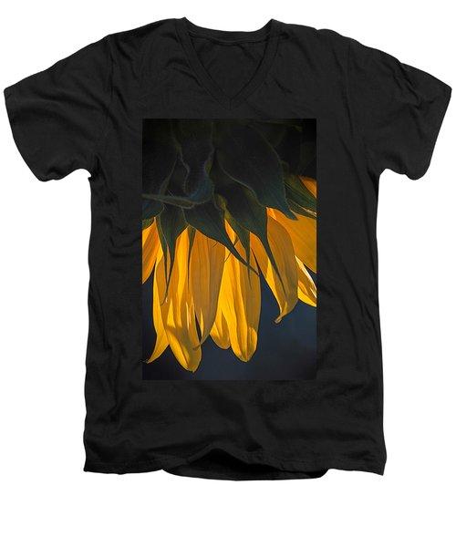 Falling Yellow  Men's V-Neck T-Shirt
