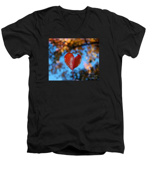 Fall's Heart Men's V-Neck T-Shirt
