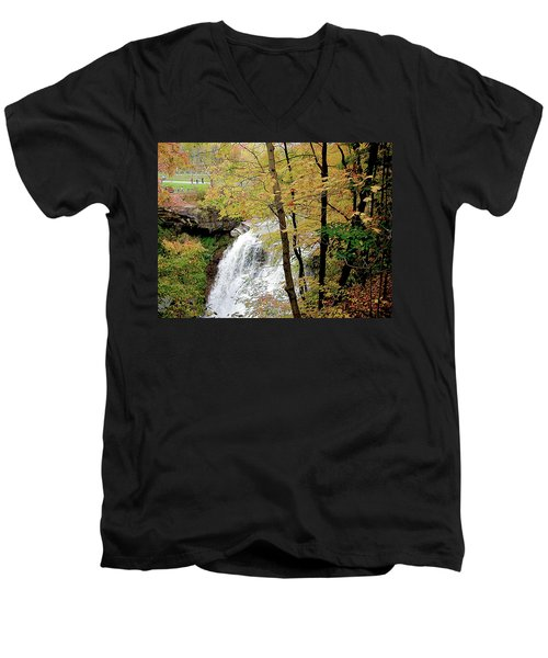 Falls In Autumn Men's V-Neck T-Shirt