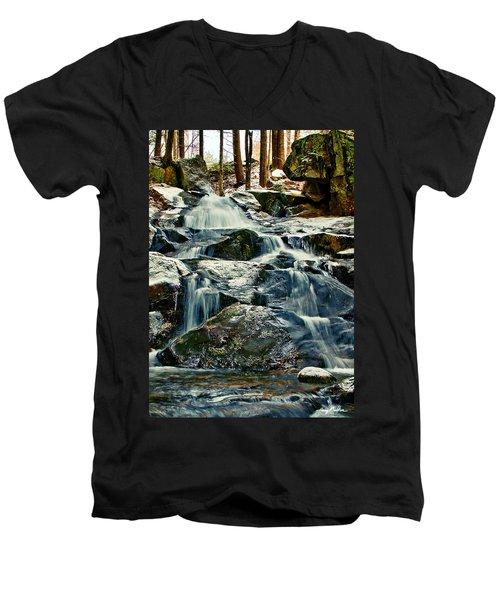 Falls Of Fogg Brook Men's V-Neck T-Shirt
