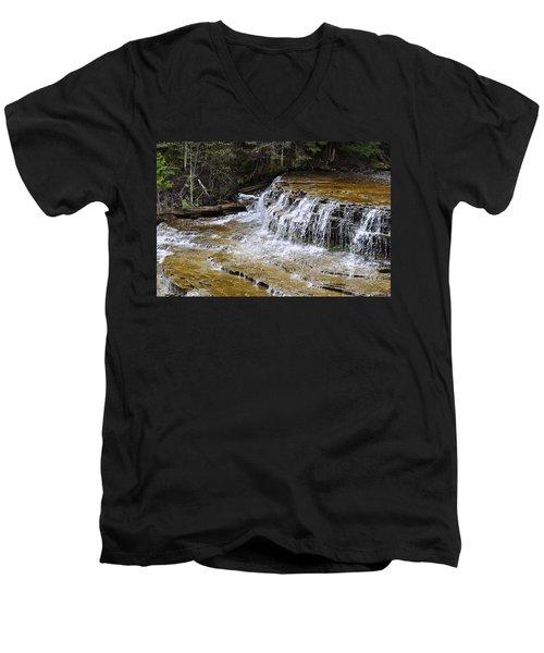 Falls Of The Au Train Men's V-Neck T-Shirt