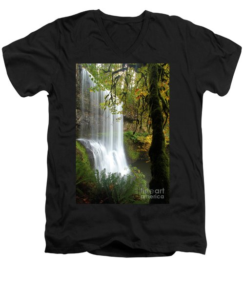 Falls Though The Trees Men's V-Neck T-Shirt