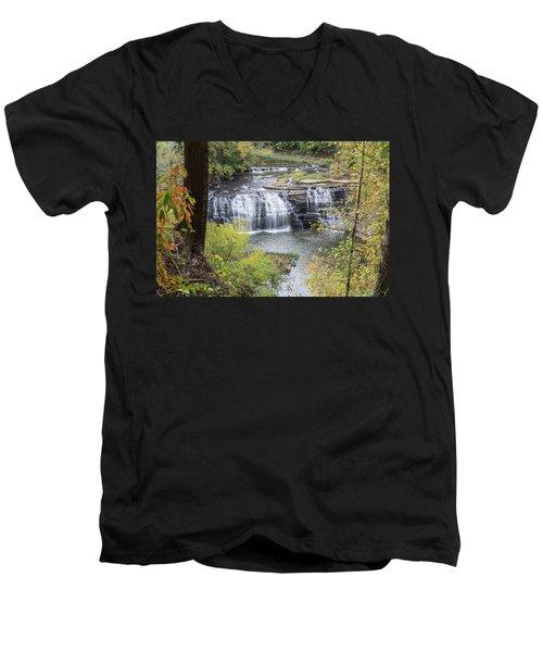Falls Through The Trees Men's V-Neck T-Shirt
