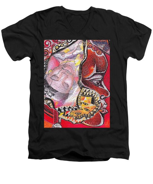 Fantasy Face Men's V-Neck T-Shirt