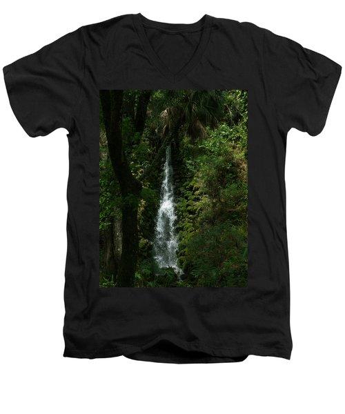 Fantasy Falls  Men's V-Neck T-Shirt