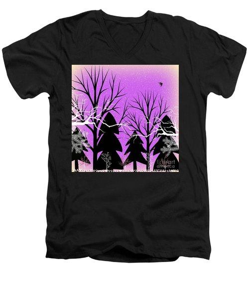 Fantasy Forest Men's V-Neck T-Shirt