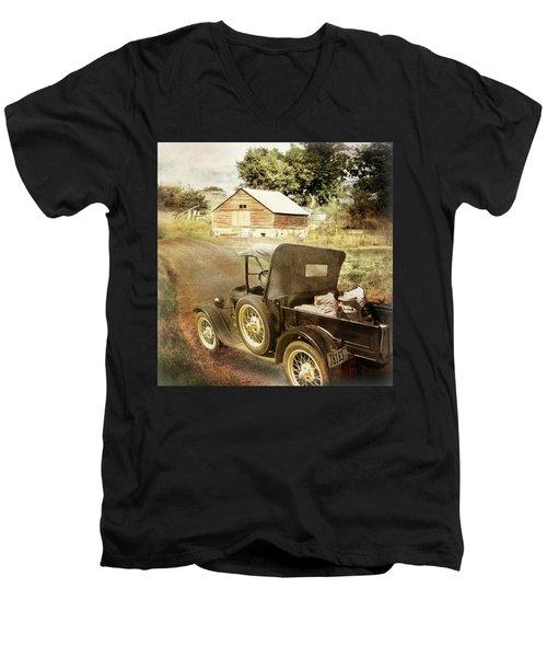 Farm Delivered Men's V-Neck T-Shirt