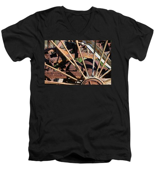 Men's V-Neck T-Shirt featuring the photograph Farm Equipment 5 by Ely Arsha