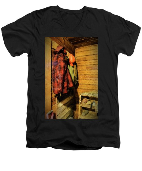 Farm Jackets Men's V-Neck T-Shirt by Tom Singleton