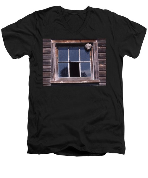 Farm Window With Paper Wasp Nest Men's V-Neck T-Shirt
