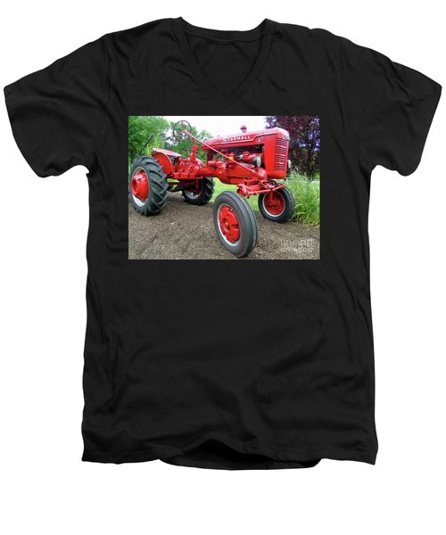 Farmall Men's V-Neck T-Shirt by Susan Lafleur