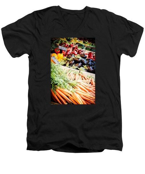 Men's V-Neck T-Shirt featuring the photograph Farmer's Market by Jason Smith