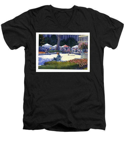 Farmers Market, Madison Men's V-Neck T-Shirt