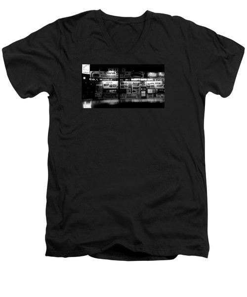 Fast Food Men's V-Neck T-Shirt by David Gilbert