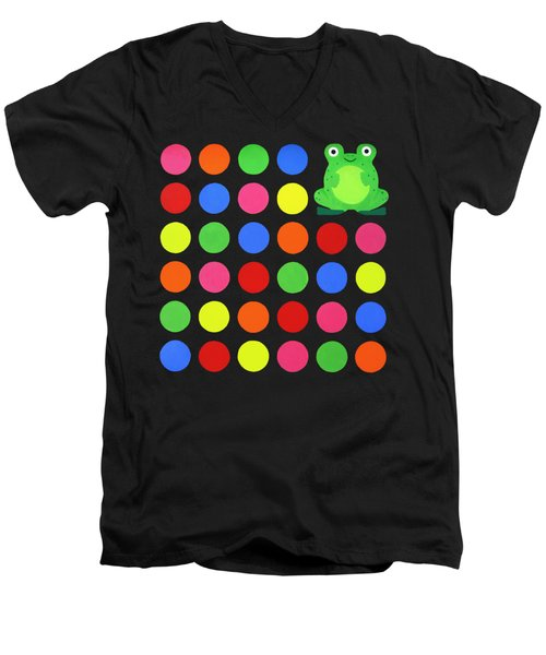 Discofrog Remix Men's V-Neck T-Shirt by Oliver Johnston