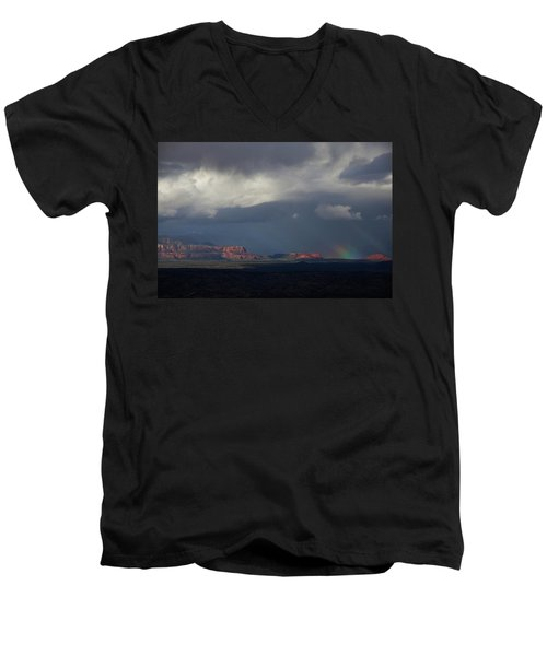 Fat Ground Rainbow, Red Rocks Sedona Men's V-Neck T-Shirt