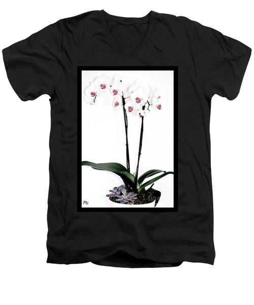 Favorite Gift Of Orchids Men's V-Neck T-Shirt by Marsha Heiken