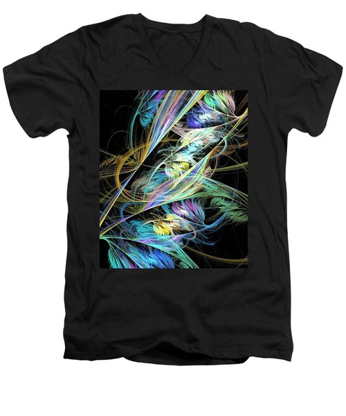 Feather Men's V-Neck T-Shirt